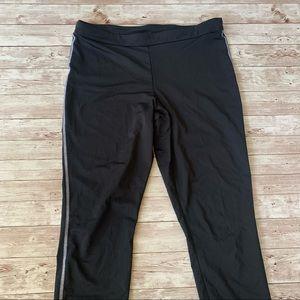 Nike Golf Crop Capri Dri Fit Side Stripe Leggings